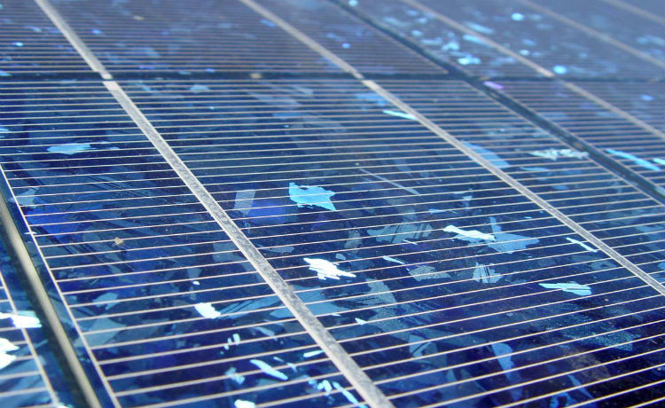 Painéis solares policristalinos