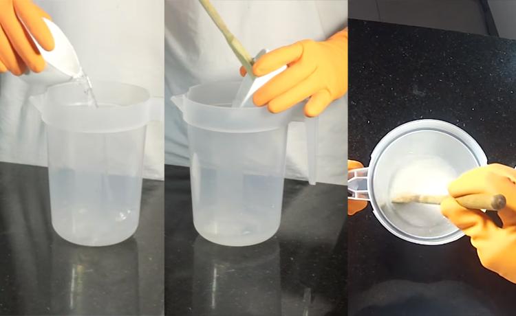 Preparando soda cáustica