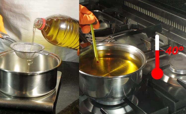 Equipando óleo