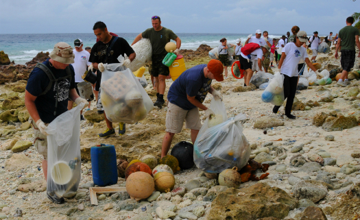 Limpeza da praia