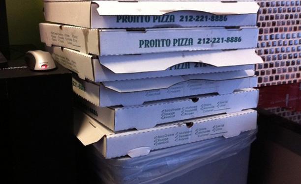 Reciclar caixa de pizza