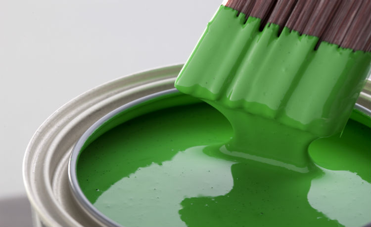 green paint brush