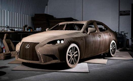 """Modelo do 'origami"""" do veículo"""