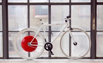Um exemplo de bicicleta usando a roda de Copenhague